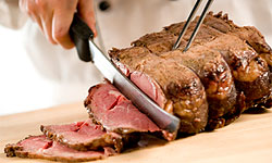 carving a beef roast