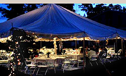 outdoor event in a tent