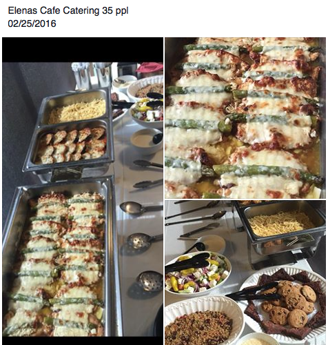 35 people catering