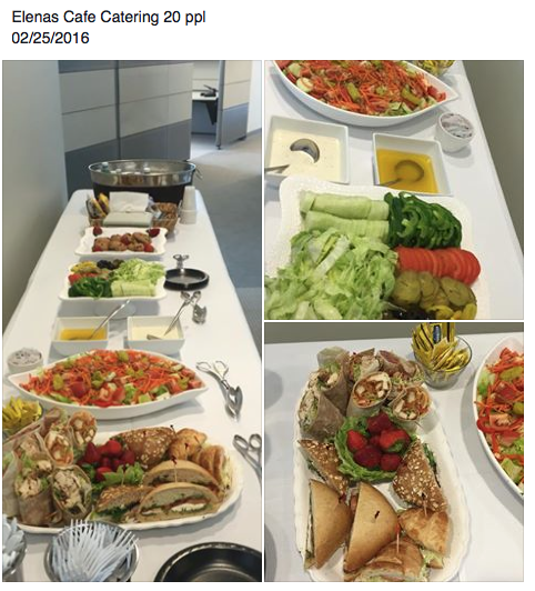 20 people catering
